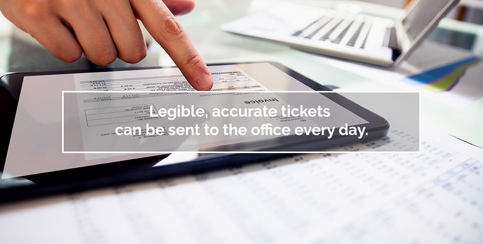 using digital tickets in the office