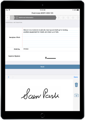 e-signature Aimsio iPad