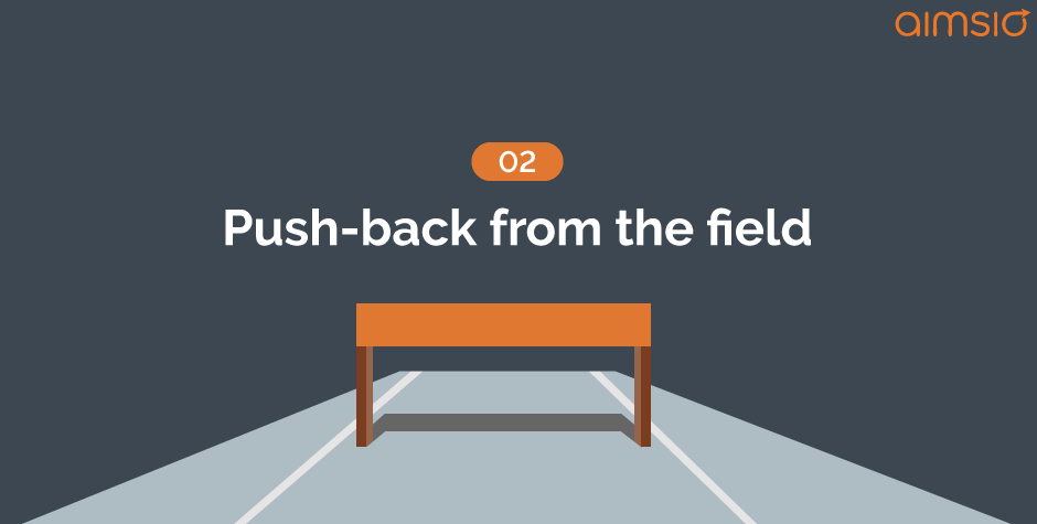 implementation hurdle3-push-back-from-the-field