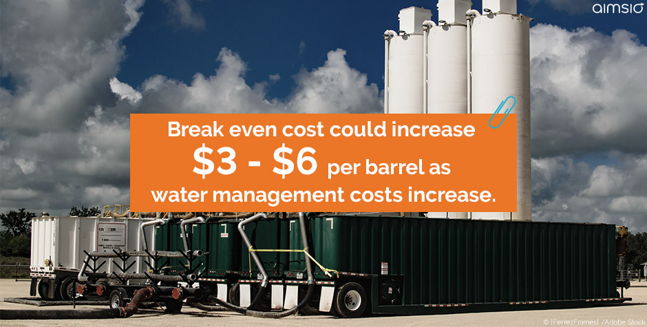 Water tank - water management costs