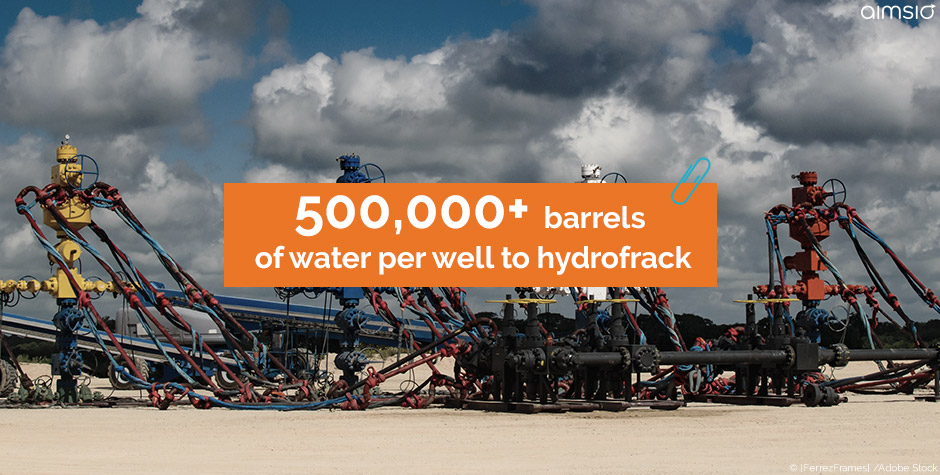 water well to hydrofrack